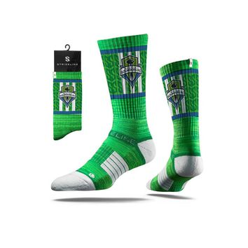 Strideline® 2.0 MLS Sounders FC Rave Green - Green–Blue–White Crew Socks