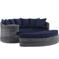 Summon Outdoor Patio Daybed Sunbrella Canvas Navy
