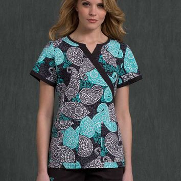 Med Couture Touch Of Bohemian Becca Scrub Top