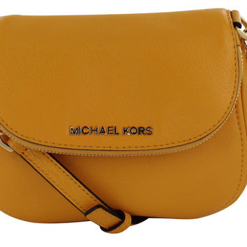 Michael Kors Bedford Leather Flap Cross body Bag Purse