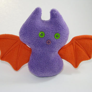 Soft Toy Bat fabric toy,fabric decoration for children,soft animal,Stuffed decor,doll for kids,eco friendly,one of a kind,handmade