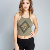 Gold Medallion Halter Top | Wet Seal