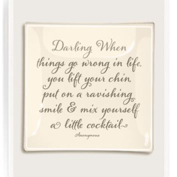 Darling When Things Go Wrong Decoupage Glass Tray