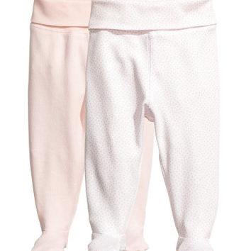 H&M 2-pack Footed Pants $12.99