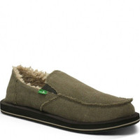 Sanuk Vagabond Chill Brown Slip-On Shoes