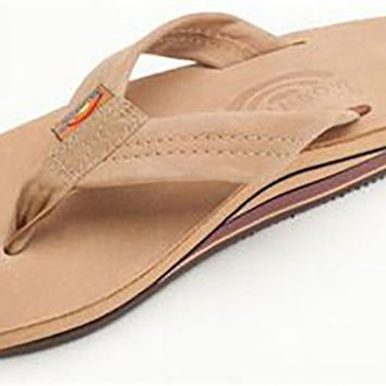 Women's Premier Leather Double Layer Arch Sandal in Sierra Brown by Rainbow Sandals