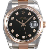 Rolex Datejust Mens 31 Jewels Automatic Watch 116201BKDO
