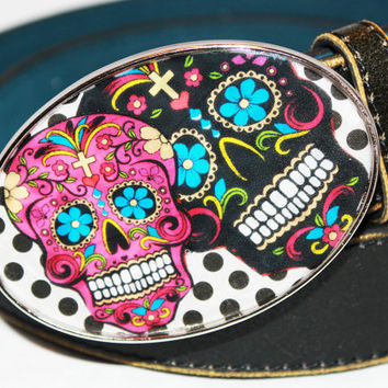 Fun Day of the Dead, Sugar Skull Belt Buckle