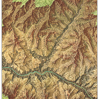 1978 Heart of the Grand Canyon Map