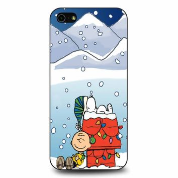 Charlie And Snoopy Brown Christmas iPhone 5/5s/SE Case