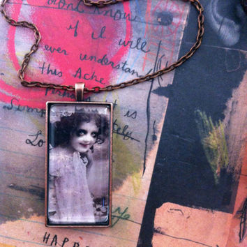 Gothic Like Her Handmade  Pendant Necklace By Alteredhead