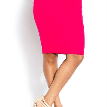 Vibrant Fuchsia Pencil Skirt