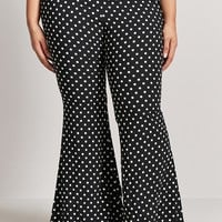 Plus Size Polka Dot Pants