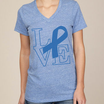 Support Prostate Cancer Awareness Unisex Organic Vneck by ShopRIC