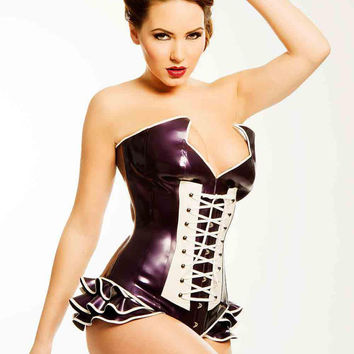 ALICE  Fully Boned Latex Rubber Corset