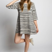 Distorted Striped Dress