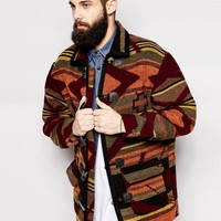 Reclaimed Vintage Blanket Duffle Coat
