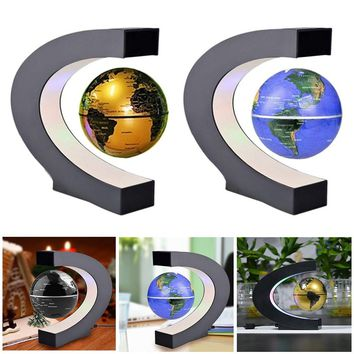 LED World Map Decor Home Electronic Magnetic Levitation Floating Globe Antigravity LED Light Gift Decoration