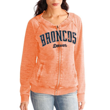 Denver Broncos Touch by Alyssa Milano Women's Ballhawk Full Zip Hoodie - Orange