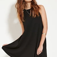 Round-Neck Trapeze Dress