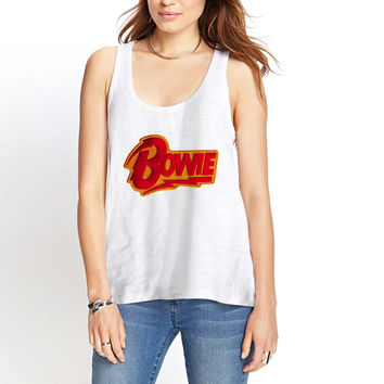 david bowie Red Womens Tank Top *