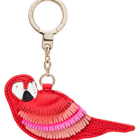 leather parrot keychain