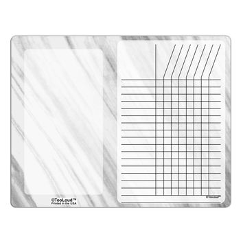 White Marble Pattern Chore List Grid Dry Erase Board All Over Print by TooLoud