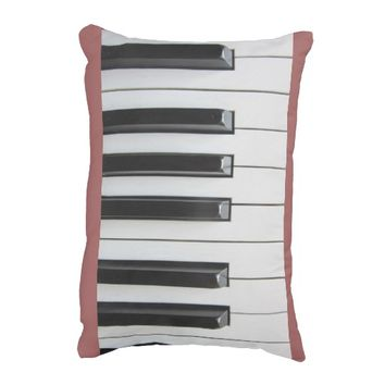 Musical Piano Keys Accent Pillow
