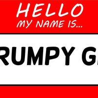 Hello My Name Is Grumpy Git T Shirt