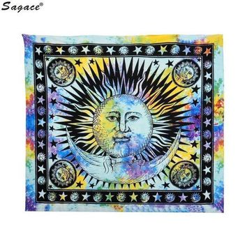 ESBU3C Trendy Celestial Sun Hippy Tapestry Wall Hanging Throw Boho Window Doorway Curtain Beach Bikini Cover Up Shawl Pashmina Aug18