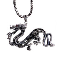 Chinese Dragon Necklace Goth Jewelry for Punk Men's Fashion (PENDANT ONLY)