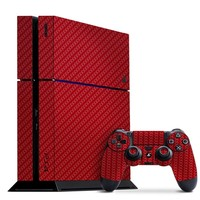 Playstation 4 Cover/Skin - Carbon Fiber Red from Slickwraps
