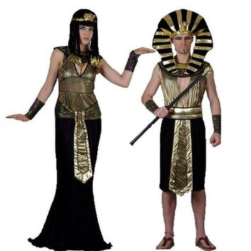 DCCKH6B 2017 Halloween Cosplay Child Ancient Egyptian Pharaoh Cleopatra Adult Costumes Girl Costume Clothes Egypt Princess Prince Party