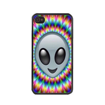 Psychedelic Trippy Alien Emoji Phone Case