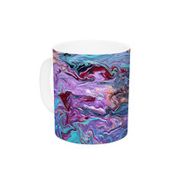 "Claire Day ""Lola"" Purple Paint Ceramic Coffee Mug"
