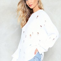 nasty gal distressed white sweater - Google Search