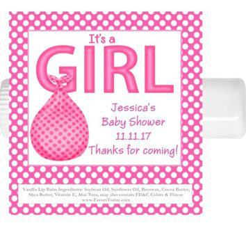 15 Its A Girl Baby Shower Lip Balm Favors