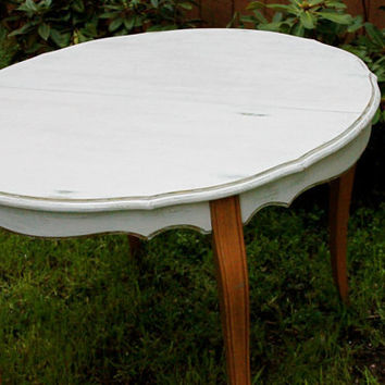 Shabby Chic Round White French Kitchen Table