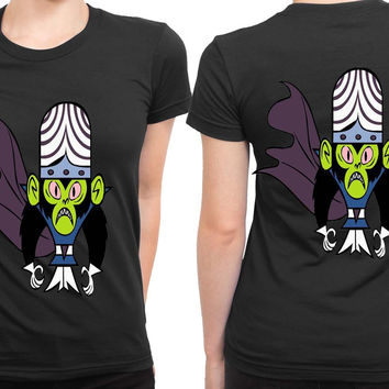 The Powerpuff Girls Mojo Jojo 2 Sided Womens T Shirt