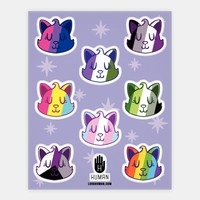 LGBTQ Cat Stickers