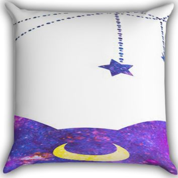 Sailor Moon Luxe LUNA Galaxy Spray Paint A0052 Zippered Pillows  Covers 16x16, 18x18, 20x20 Inches