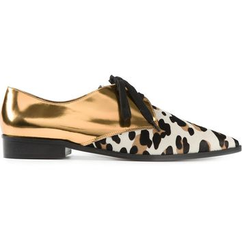 Marni contrast lace up shoes