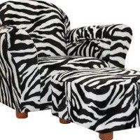 KEET Roundy Chair with Ottoman, Zebra