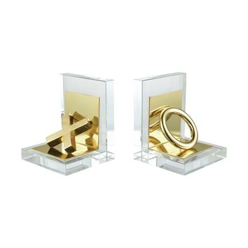 Vanquish Bookends Gold