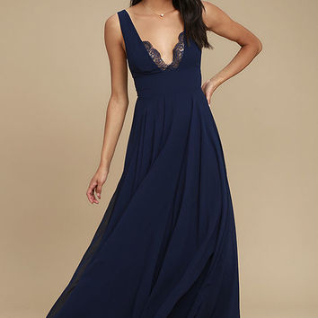 True Bliss Navy Blue Maxi Dress