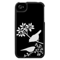 Two Little Birds {Black and White} Case For The iPhone 4 from Zazzle.com