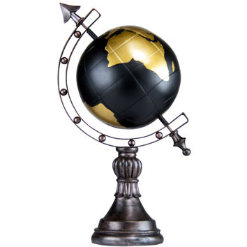 Antique Globe with Stand and Arrow