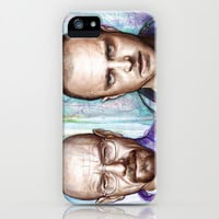 Walter White and Jesse Pinkman - Breaking Bad Fan Art iPhone & iPod Case by Olechka