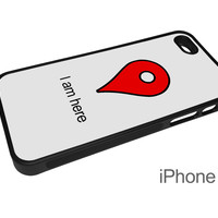 I Am Here Google Location Pin Cell Phone Case for iPhone and Samsung