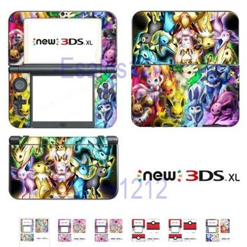 1 Pcs Anime Eeveelutions Vinyl Skin Decals Stickers for New 3DS XL Skin 4 Color)